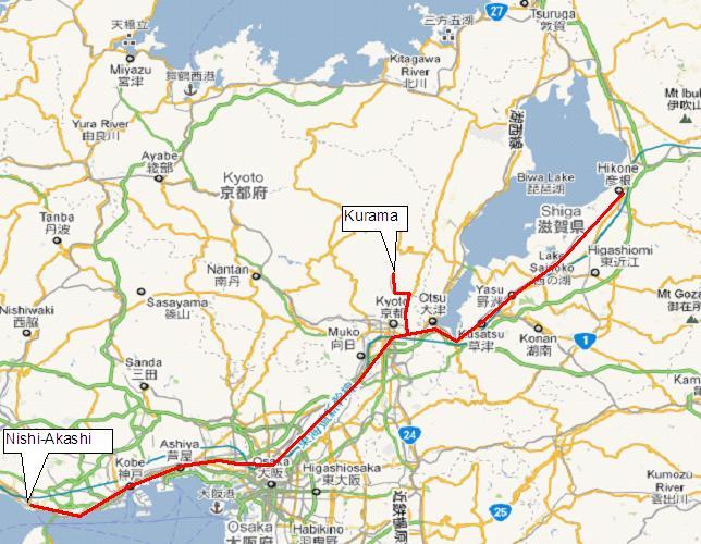 Hikone Japan  City new picture : To Hikone 6:45am at Nishi Akashi, 8:50am at Hikone